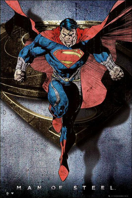Superman Man of Steel : Comic Style Flying - Maxi Poster ...