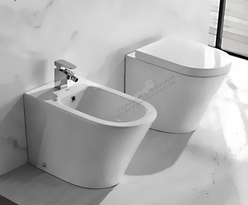 sanitari a terra filo muro serie con vaso coprivaso e bidet bagno wc moderni eur 249 54. Black Bedroom Furniture Sets. Home Design Ideas