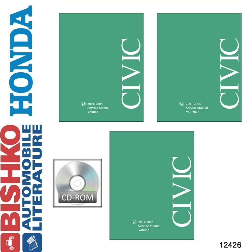 2001 2002 2003 2004 2005 Honda Civic Shop Service Repair Manual DVD Engine  OEM 1 of 1Only 1 available ...