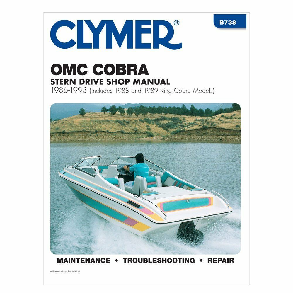 Omc Marine Engine 1986 1993 Cobra Sterndrive Motor Repair Manual 1998 4 3 V6 Wiring Diagram Shop Service 1 Of 1free Shipping