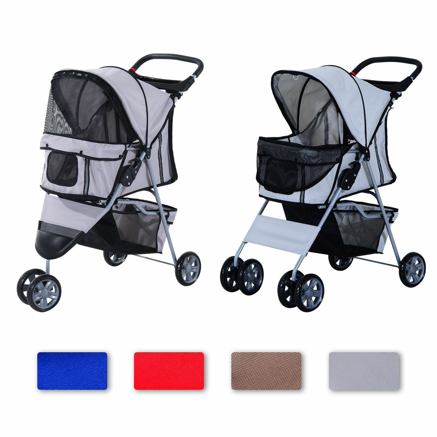 hundewagen hundebuggy hunde pet stroller buggy 4 farben 3. Black Bedroom Furniture Sets. Home Design Ideas