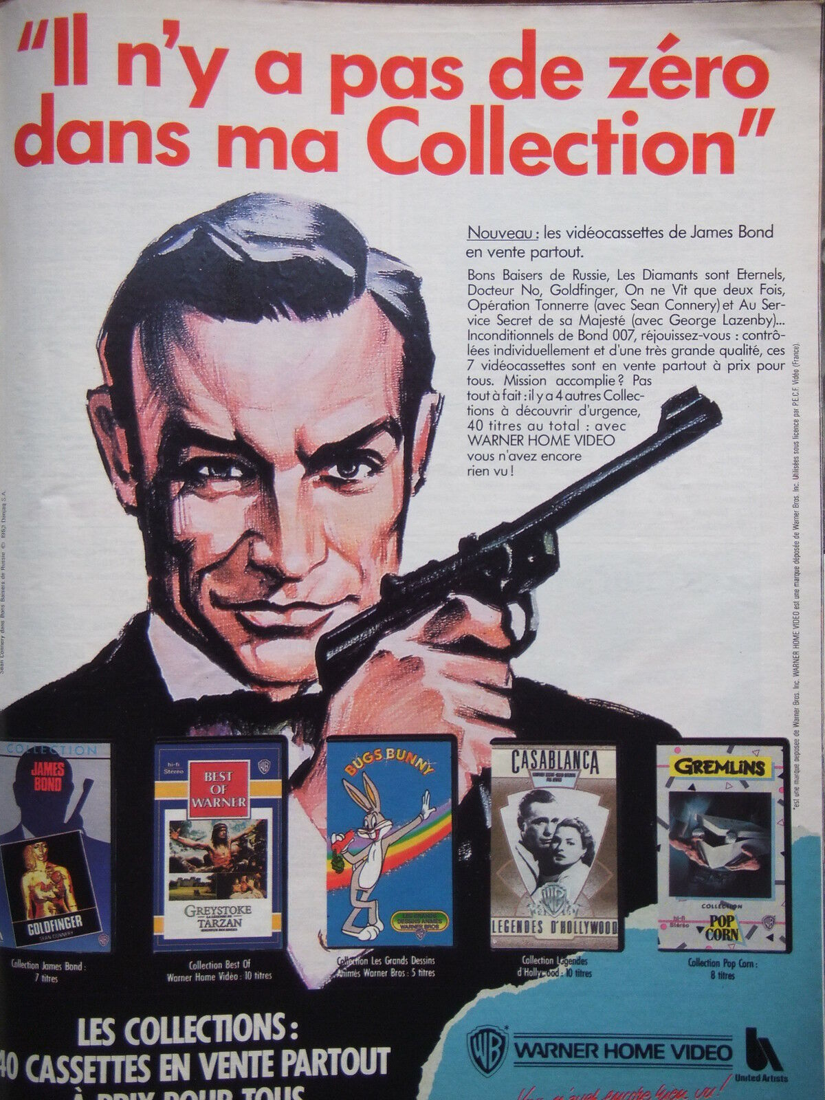 publicit 1987 james bond en vente partout il n 39 y a pas de z ro advertising eur 3 00. Black Bedroom Furniture Sets. Home Design Ideas