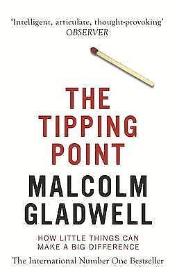 the tipping point how little things can make a big difference by malcolm gladwell essay The tipping point: how little things can make a big difference by malcolm gladwell have you ever heard the idea that keeping your company size limited to 150 people max is optimal that came from this book.