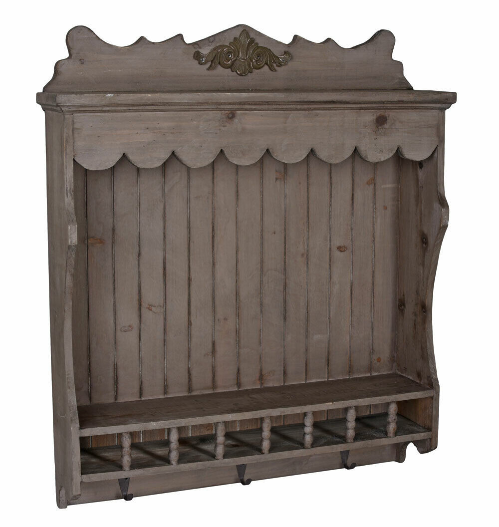 vintage k chenregal tellerboard tellerregal shabby chic wandregal antik stil eur 59 99. Black Bedroom Furniture Sets. Home Design Ideas