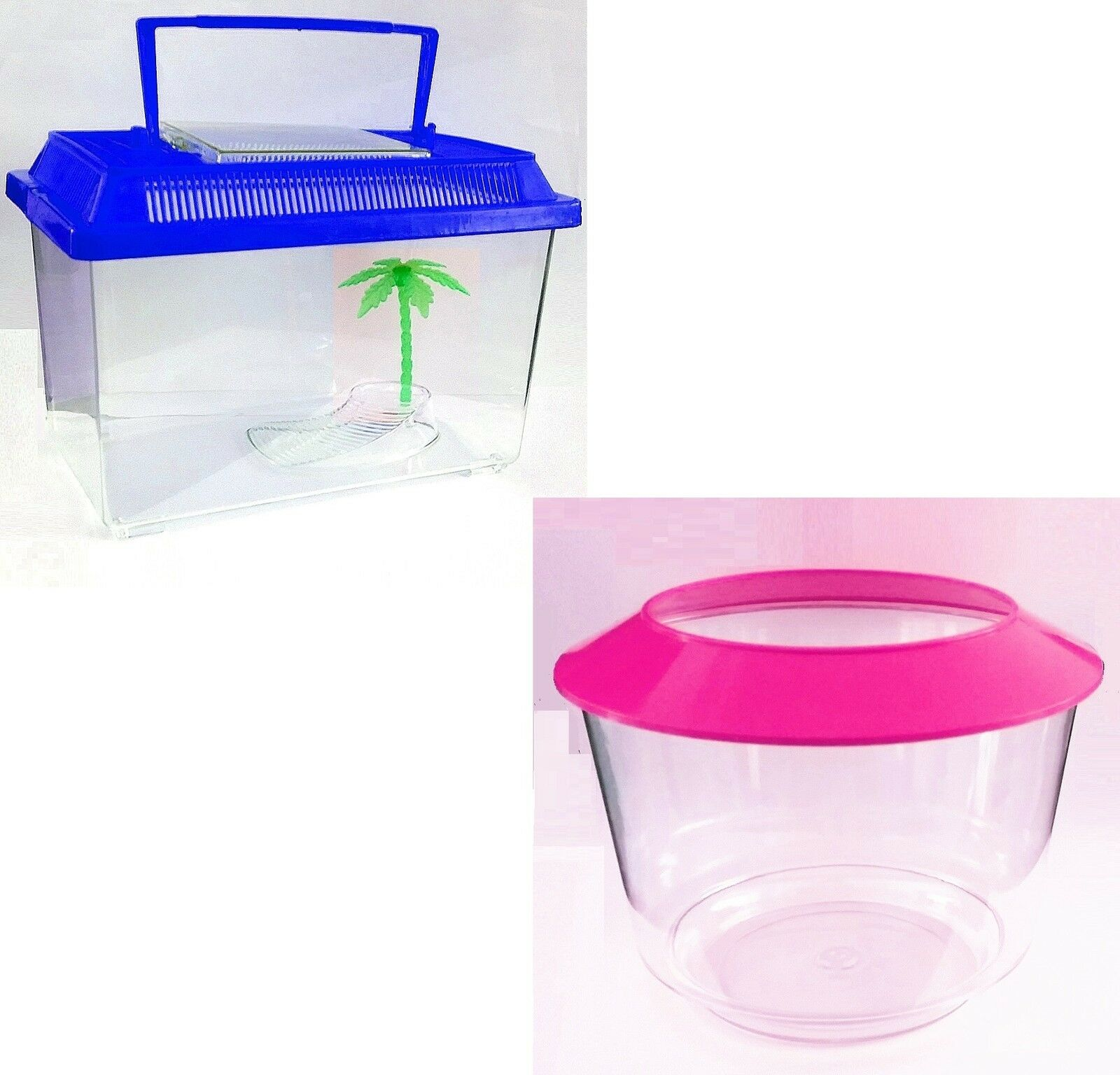 Fish Water Tank Plastic Aquarium Trendy  Worms Reptile Goldfish Container Colour