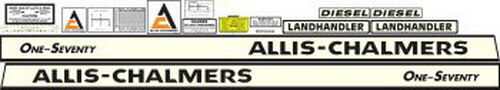 Allis Chalmers Decal Kits : New allis chalmers tractor complete decal set high