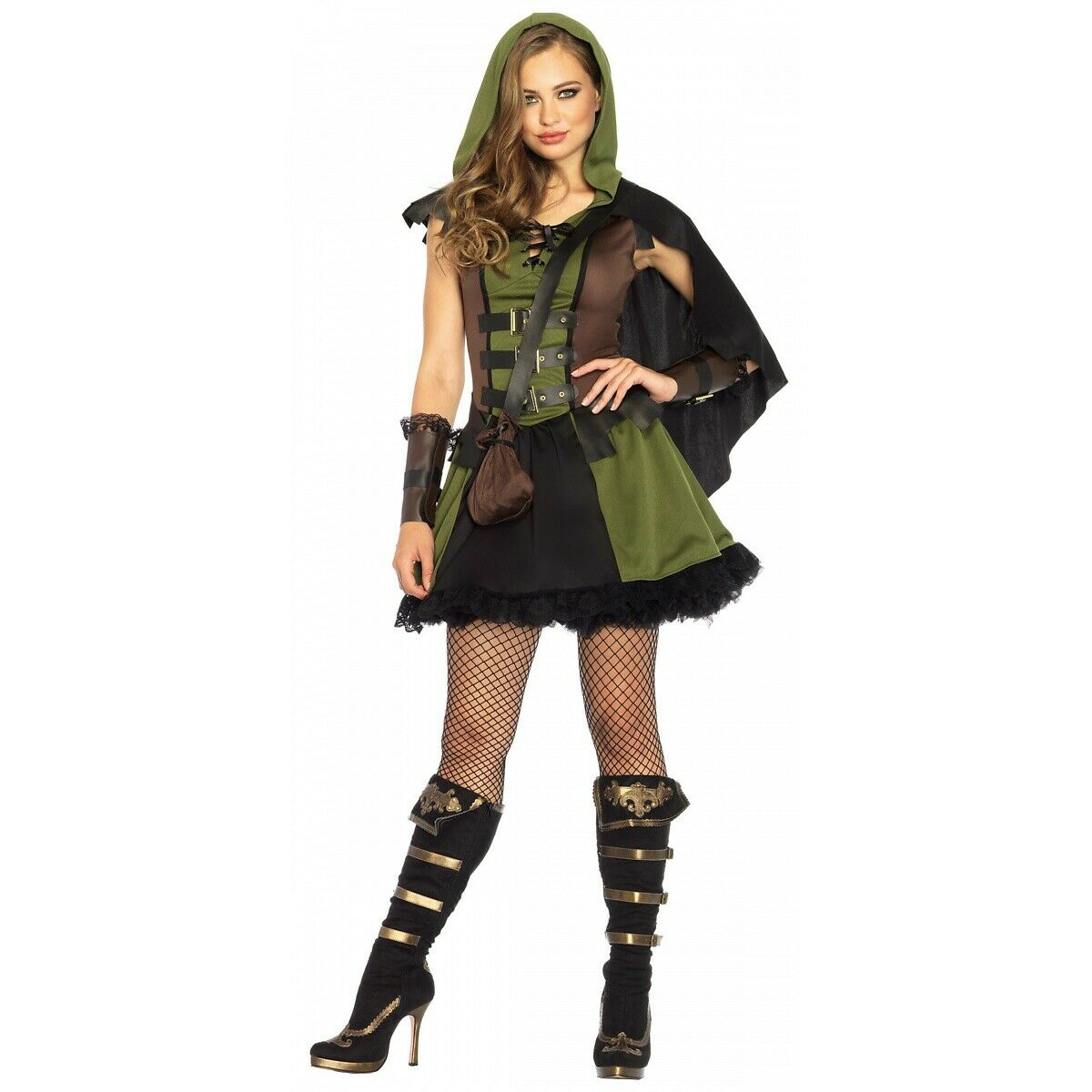 robin hood costume adult medieval huntress halloween fancy dress