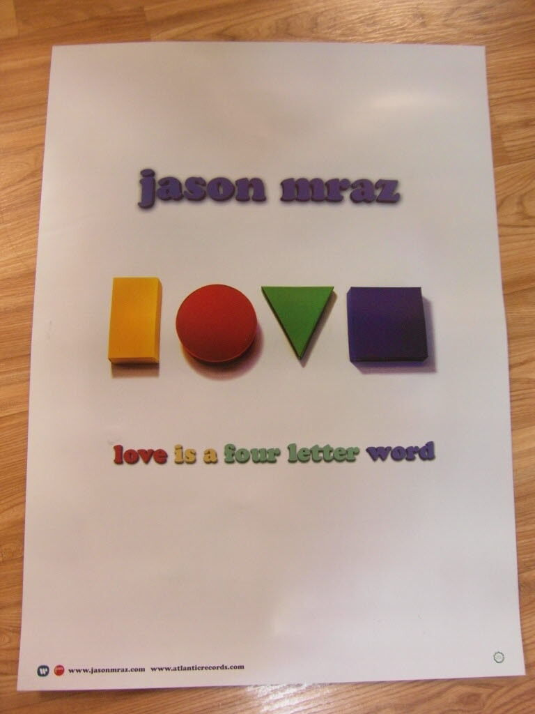 Jason Mraz Love Is A Four Letter Word Original Poster 2 Sided