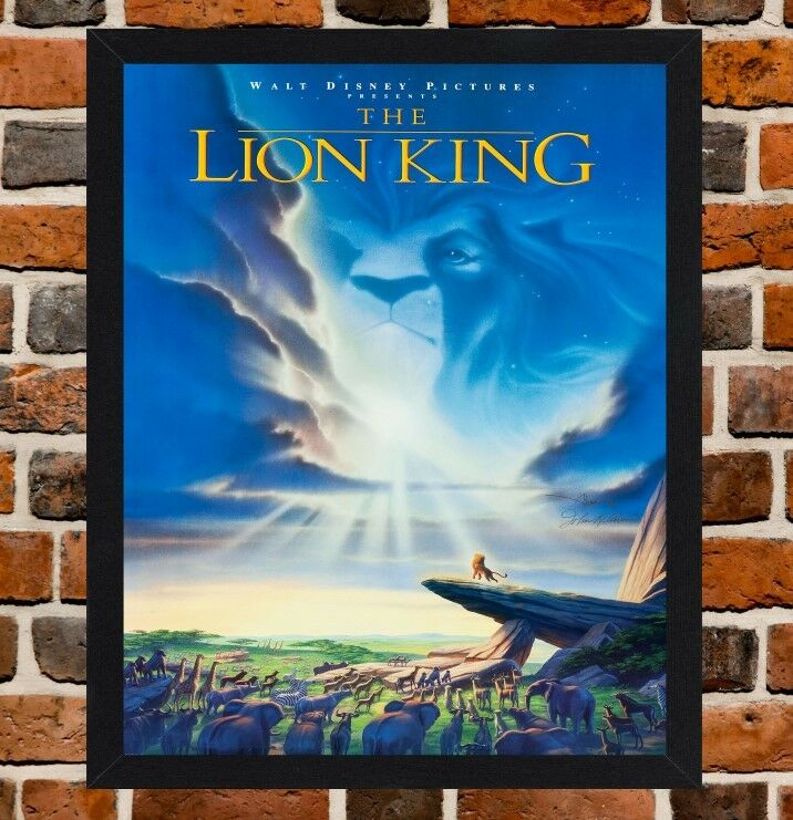 Framed The Lion King Movie Film Poster A4 A3 Size In Black