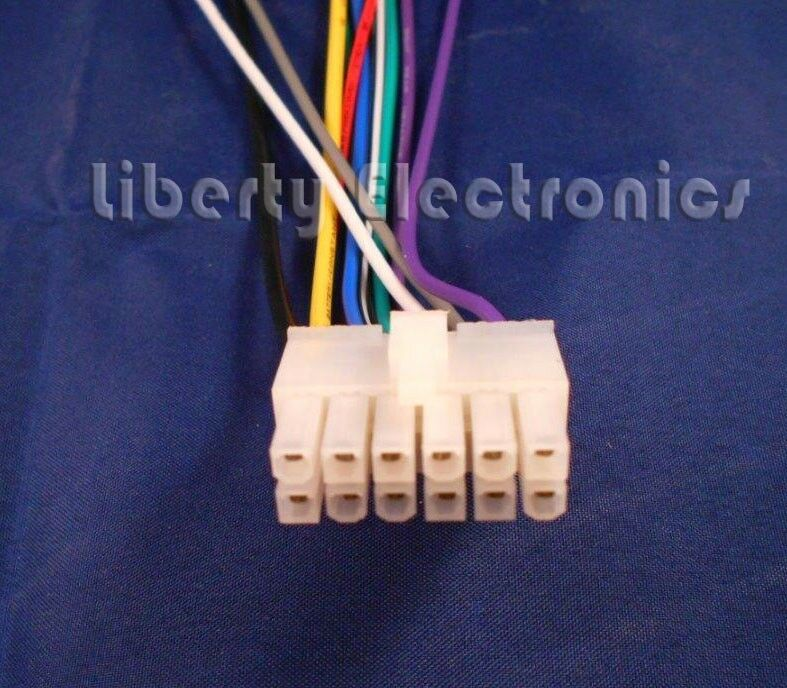 New 12 Pin AUTO STEREO WIRE HARNESS for new 12 pin auto stereo wire harness for dual xdm260 xdm270 cd