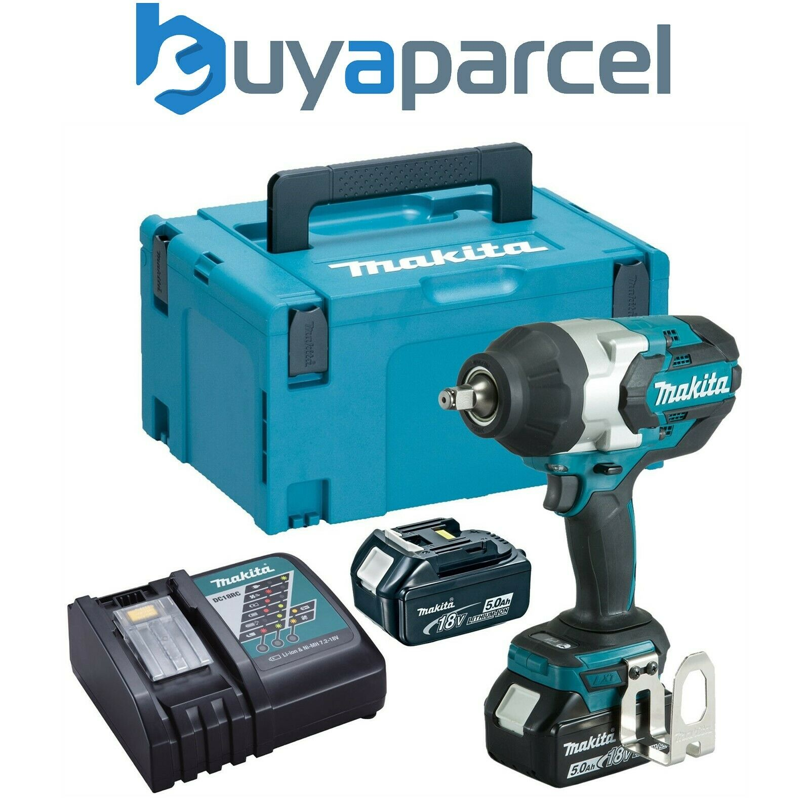 makita dtw1002rtj 18v lxt brushless impact wrench 1 2 2. Black Bedroom Furniture Sets. Home Design Ideas