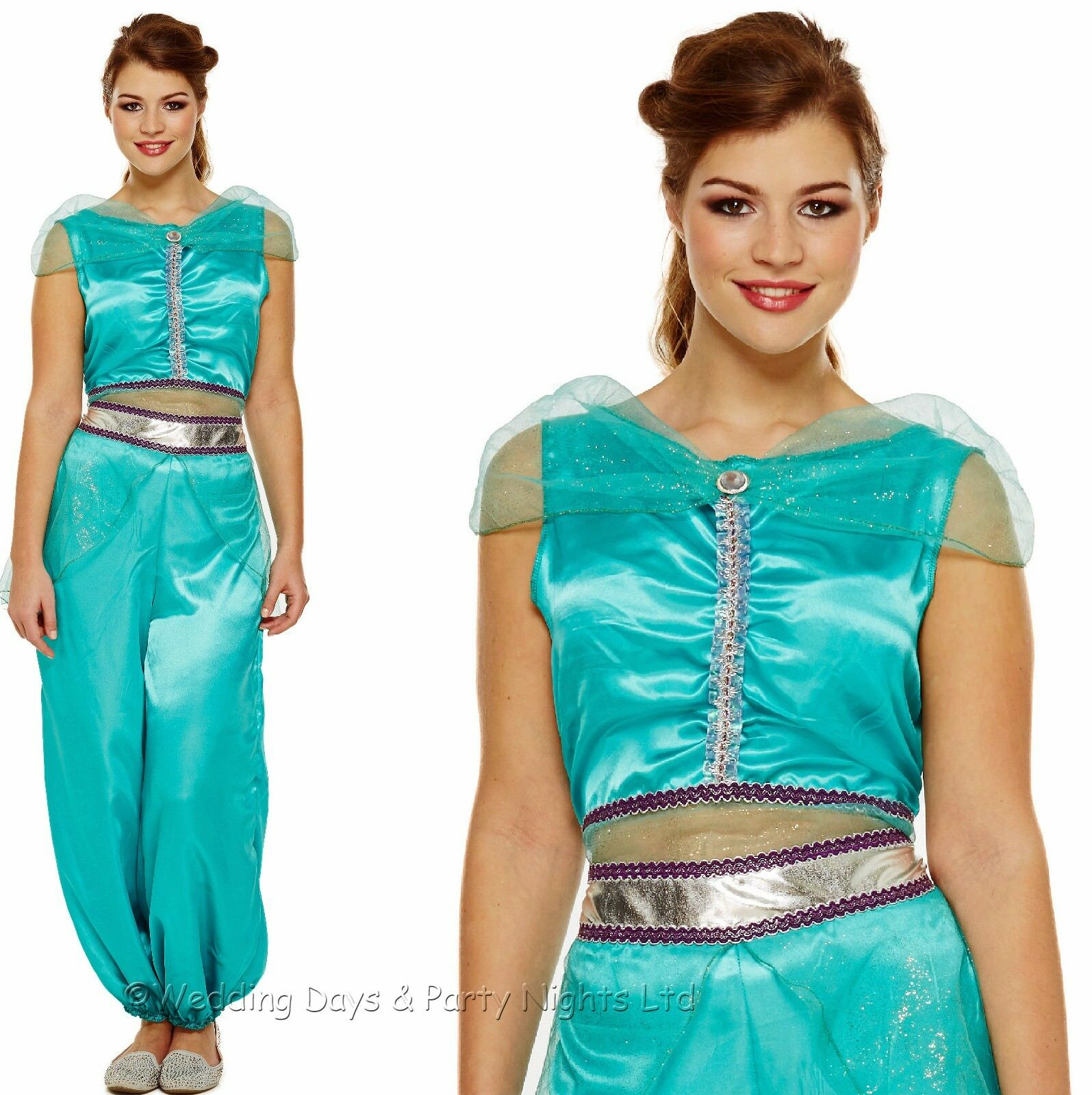 8/10/12 ARABIAN PRINCESS Costume Genie Belly Dancer Fairytale Ladies ...