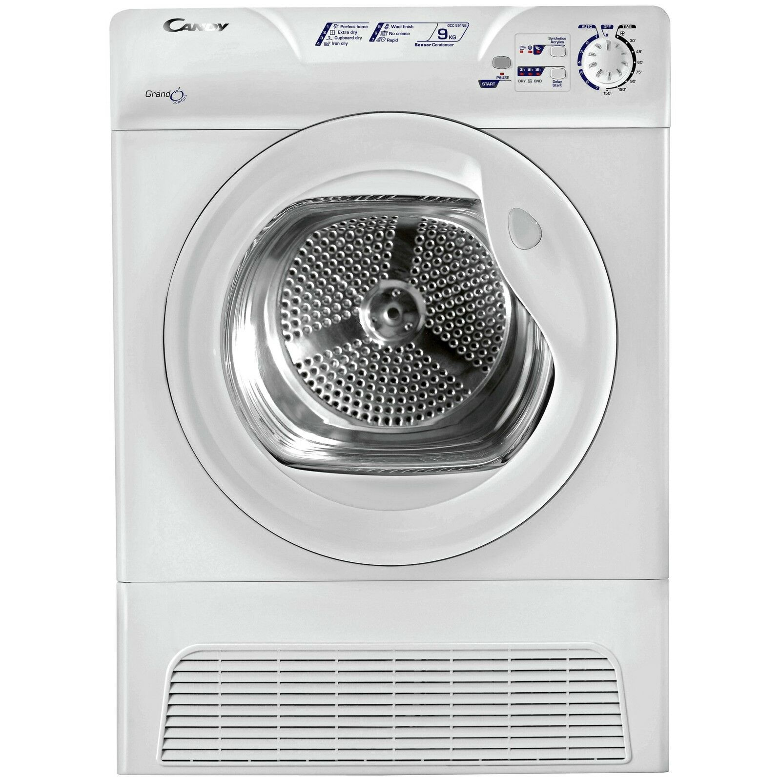 Candy gcc591nb condenser tumble dryer 9kg white from the argos shop on ebay - Tumble dryer for small space pict ...