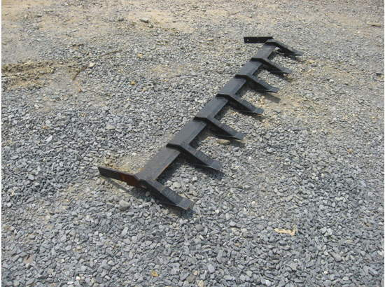 Tractor Steering Bar : New removable tooth teeth bar skid steer loader compact