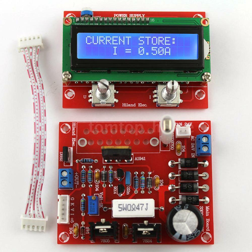 Adjustable Dc Regulated Power Supply Diy Kit With Lcd Display 001 1 Of 10 See More