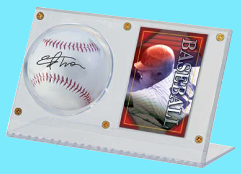 Ultra Pro Clear Acrylic Baseball Card Holder Display New Ball Case Stand Mlb 1409