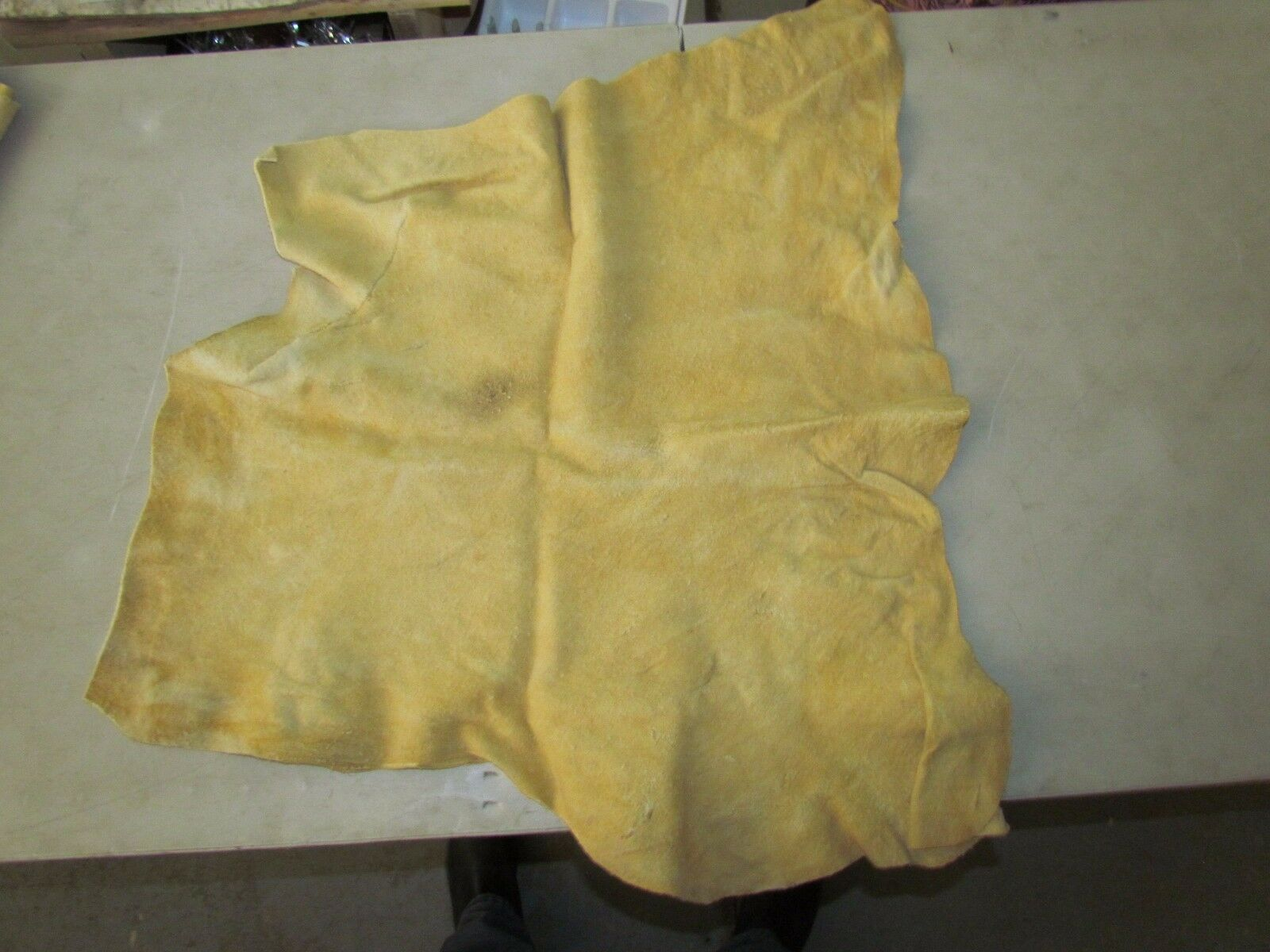 """Native American Light Coloured Home Tanned Moose Hide Soft 29"""" In By 28"""" In"""
