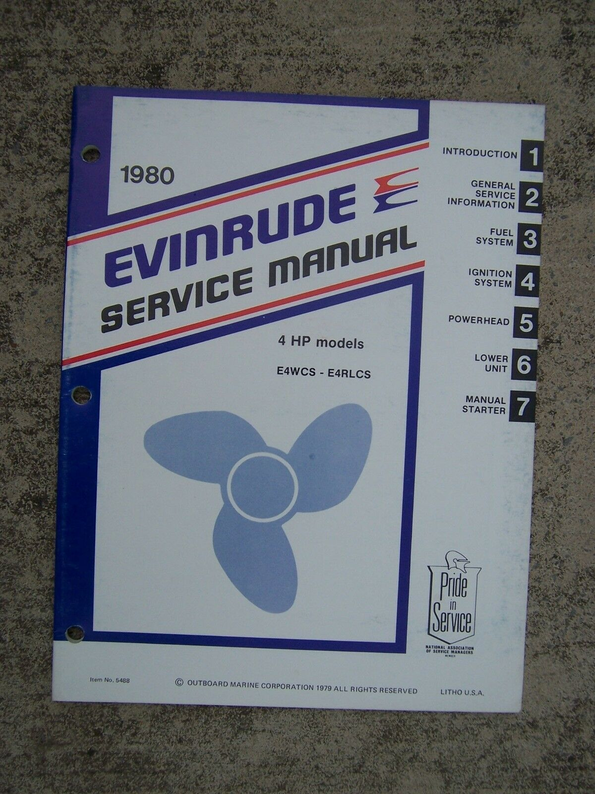 1980 Evinrude Outboard Motor 4 HP E4WCS E4RLCS Service Manual MORE IN STORE  V 1 of 1 See More