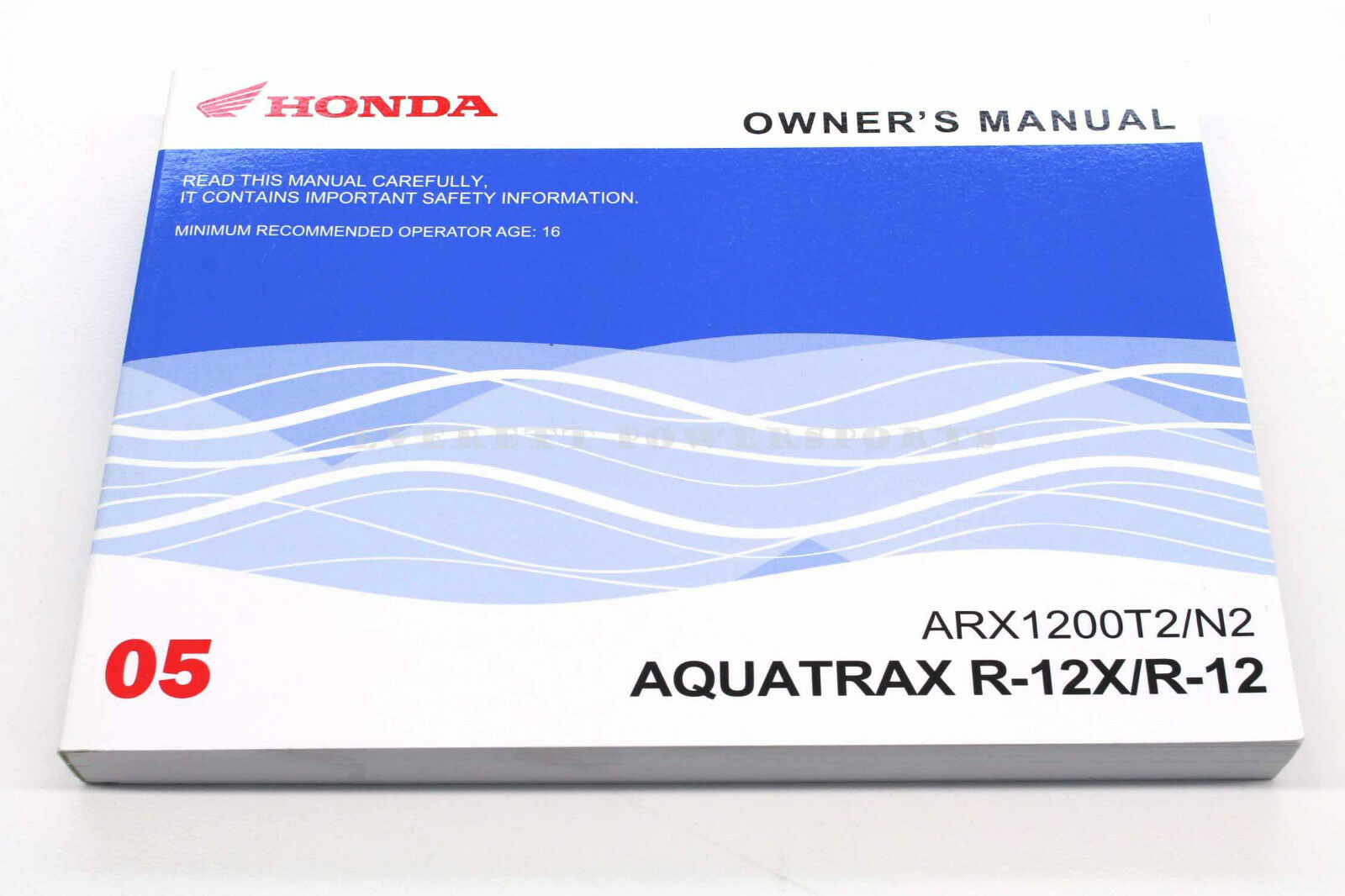 New Owners Manual Honda Aquatrax ARX1200 N2/T2 2005 Turbo and Non 2 Seater  # 1 of 2Only 3 available New Owners Manual Honda ...