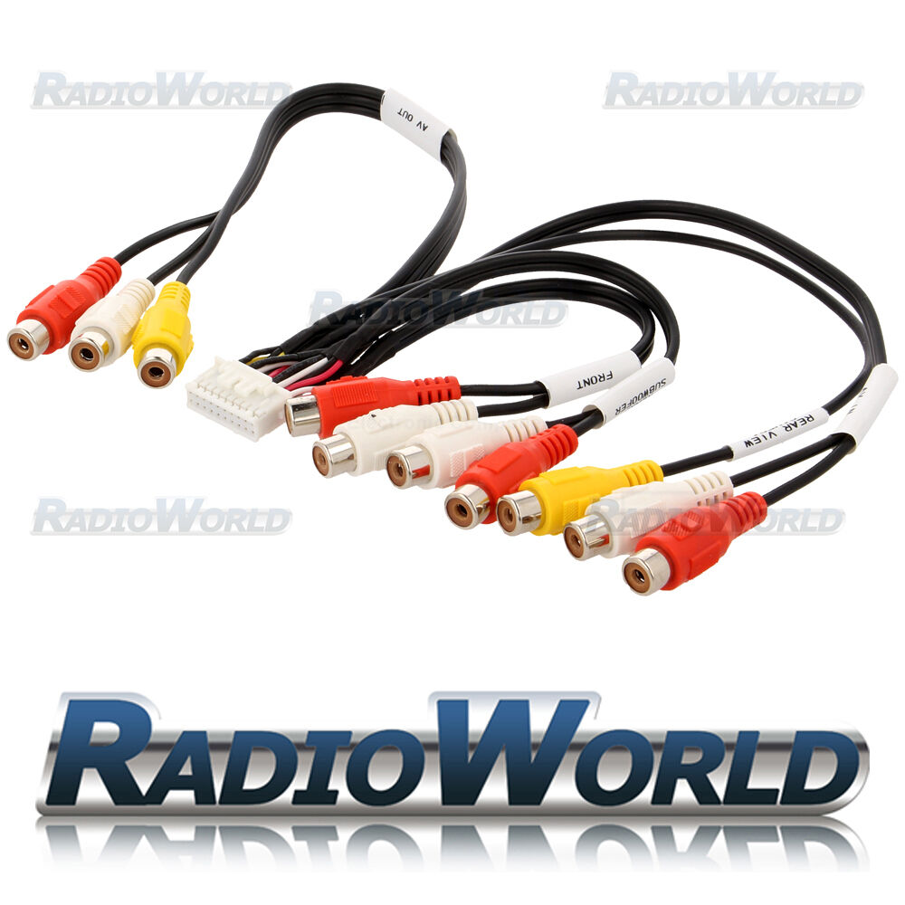 Kenwood Kvt 512 Kvt512 Rca Pre Out Av In Phono Cable Lead Wiring Harness 1 Of 1free Shipping