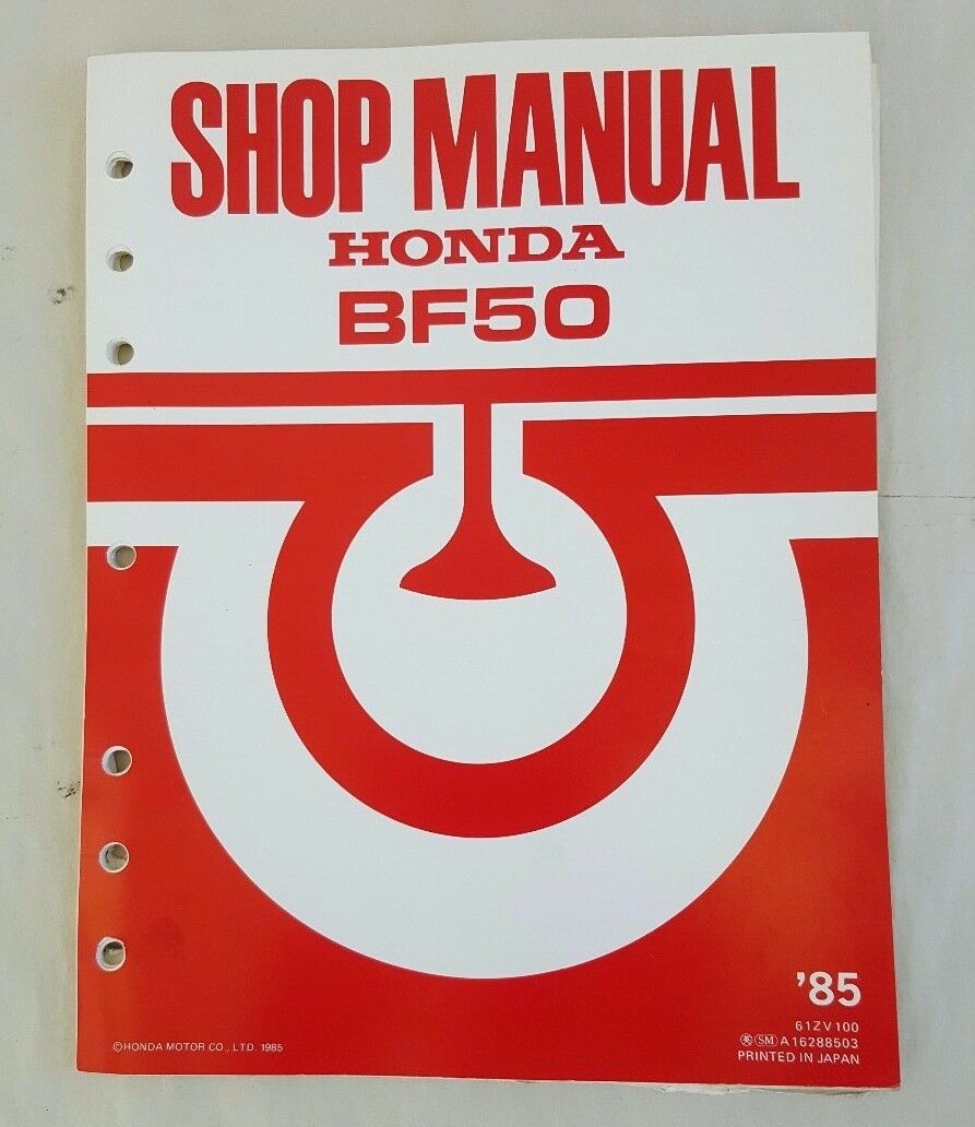 1985 Honda Marine Outboard Motor Bf50 Service Shop Manual 1 of 12Only 2  available ...