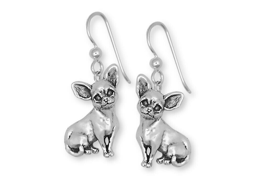 Chihuahua Dog Earrings Handmade Sterling Silver Jewelry Chw1 E 1 Of 1only 2 Available