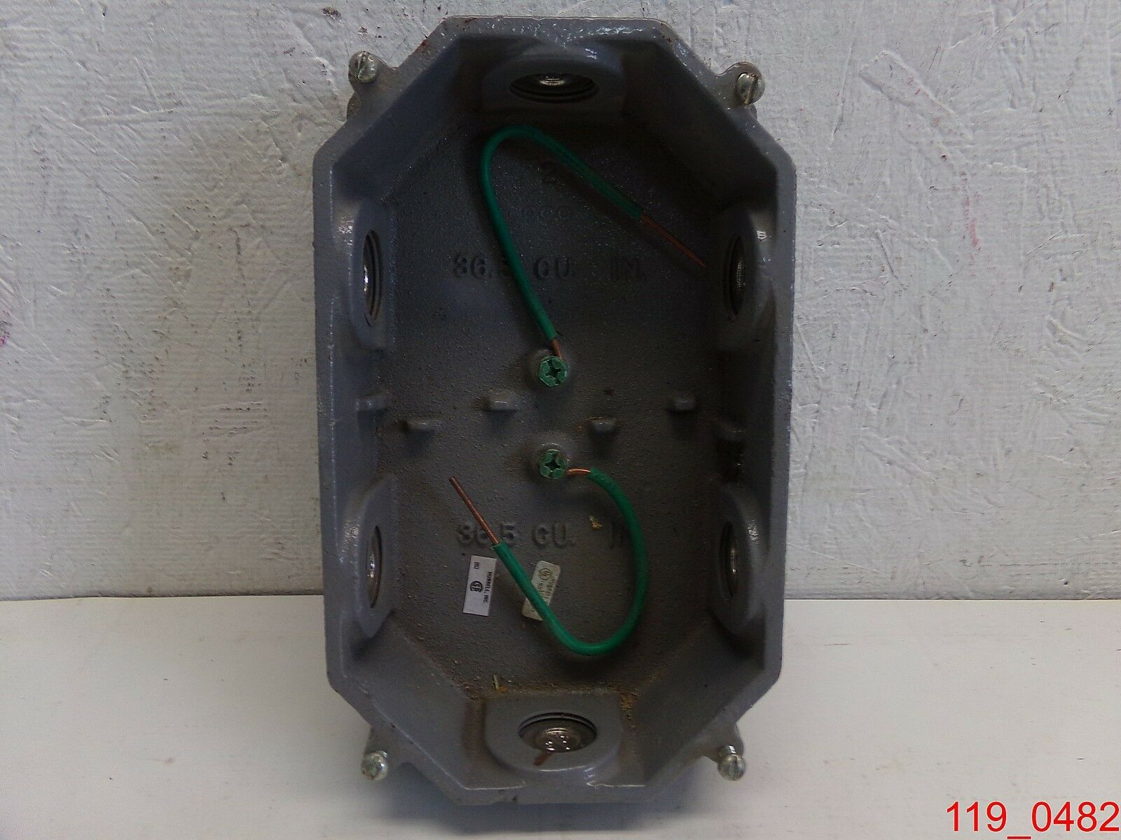 Hubbell Wiring Device Kellems 232a Floor Outlet Box Cast Iron Brass 1 Of 3only Available