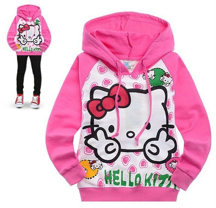 SANRIO HELLO KITTY HOODIE JACKET JUMPER Hoody Sweatshirt all sizes