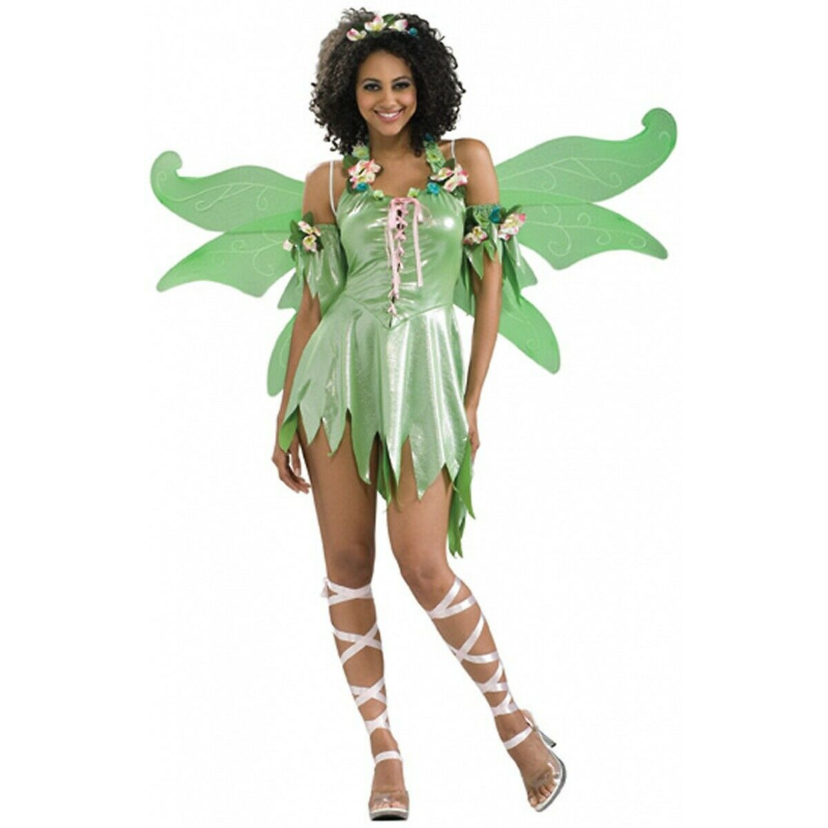 green fairy costume adult tinkerbell halloween fancy dress 1 of 4free shipping