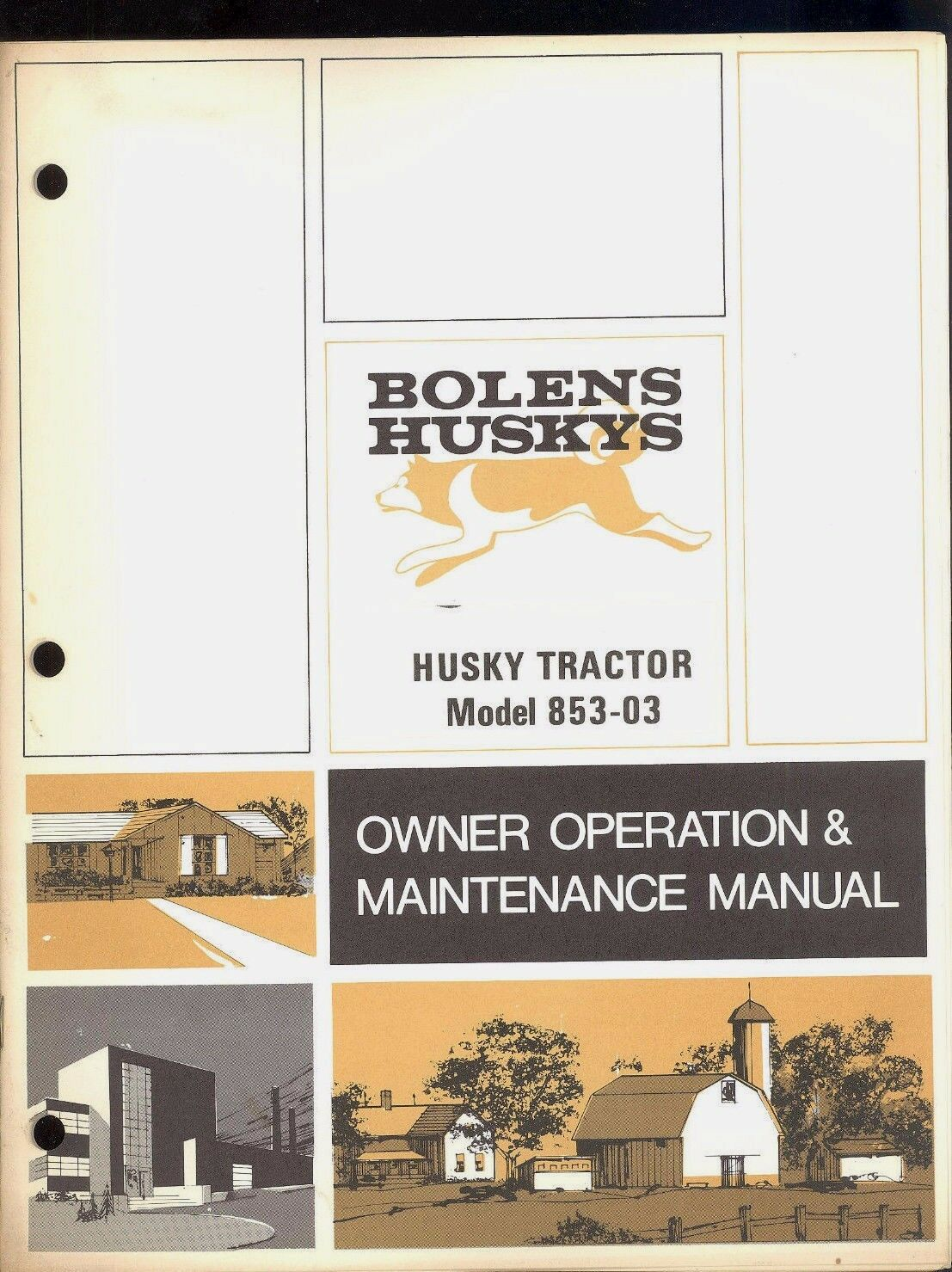 1970 Bolens Husky Tractor Model 853 03 Owners Operators Wiring Diagram 1220 Maintenance Manual