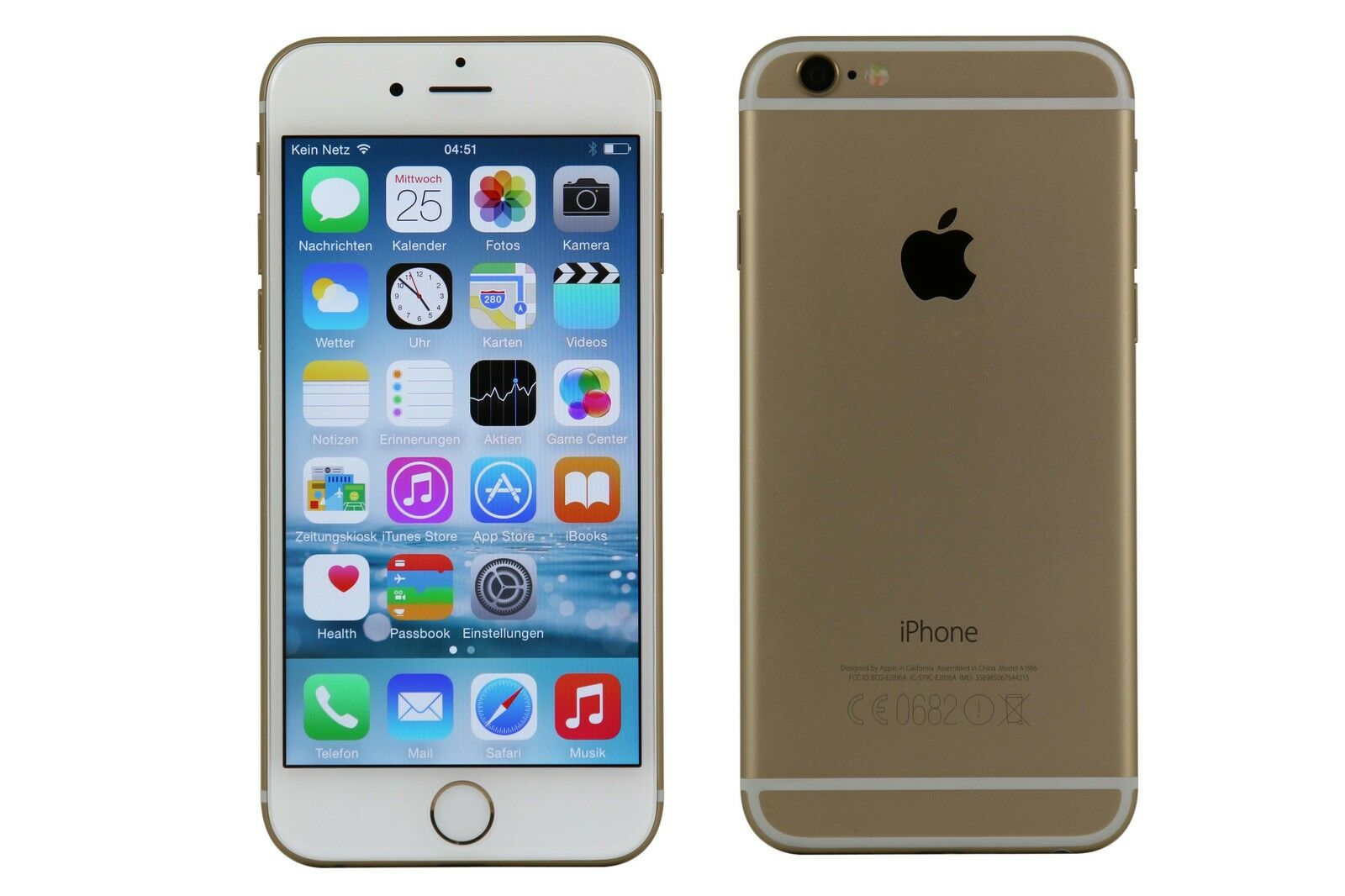 apple iphone 6 16 gb gold ohne simlock guter zustand. Black Bedroom Furniture Sets. Home Design Ideas