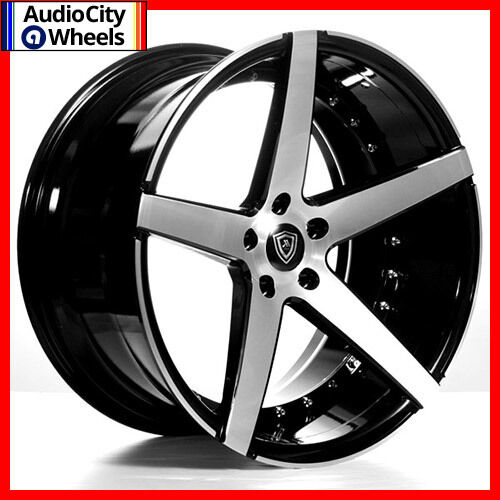 MQ WHEELS BLACK MACHINED FACE STAGGERED RIMS X FIT - Black acura rims