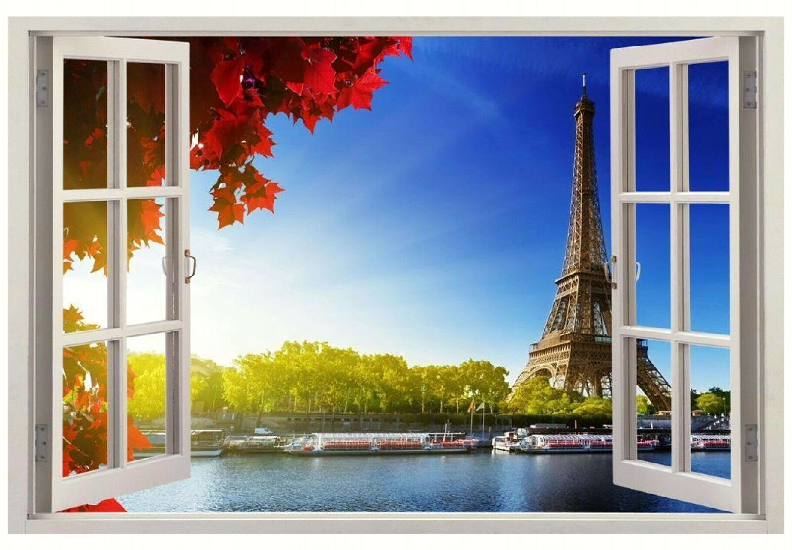 3d Eiffel Tower Paris Window Wall Sticker France Wall Decal Home