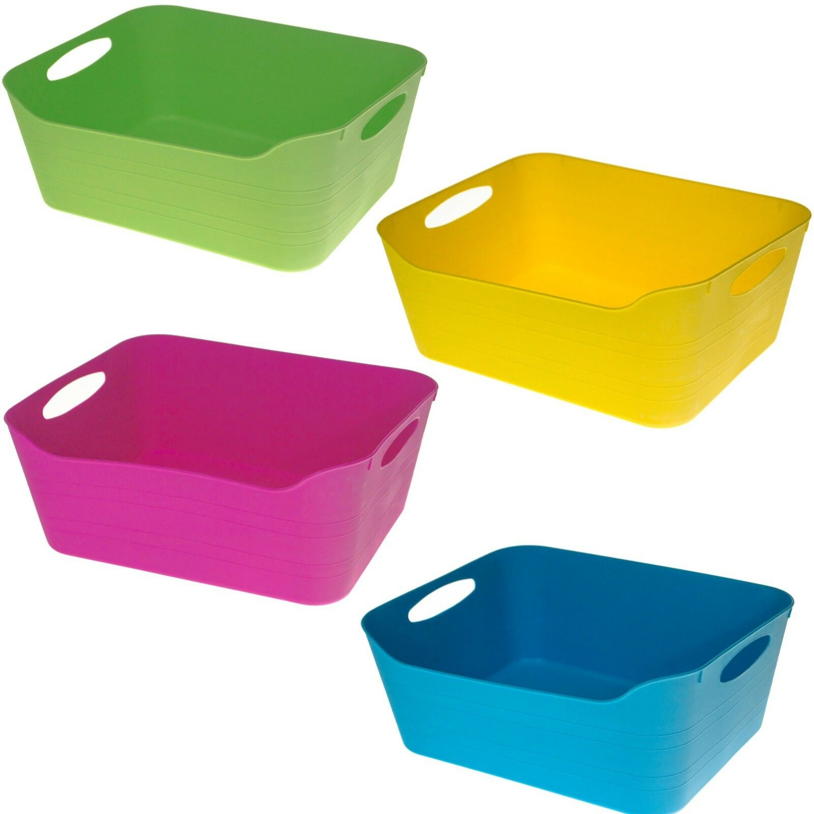 COLOURFUL FLEXI BASKET Plastic Tub Tubs for Kids Toys Clothing ...