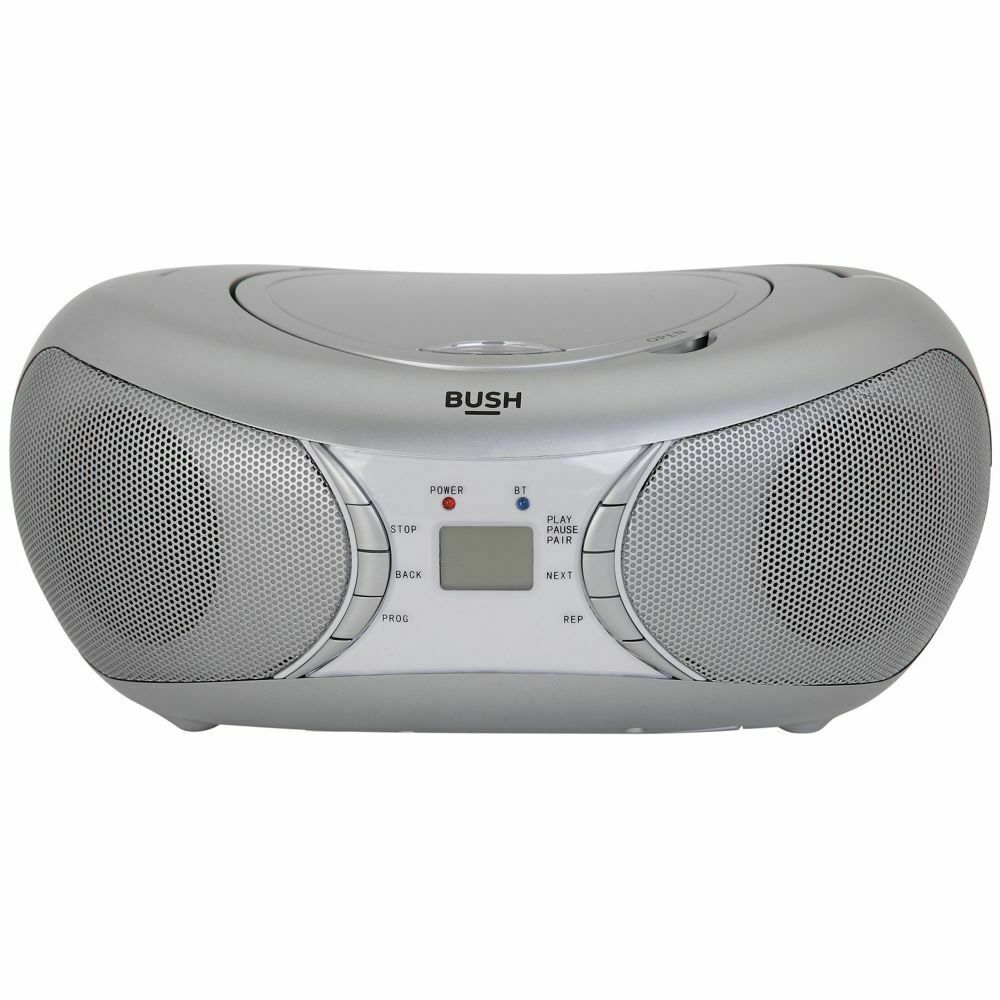 bush bluetooth cd player radio boombox silver free 90. Black Bedroom Furniture Sets. Home Design Ideas