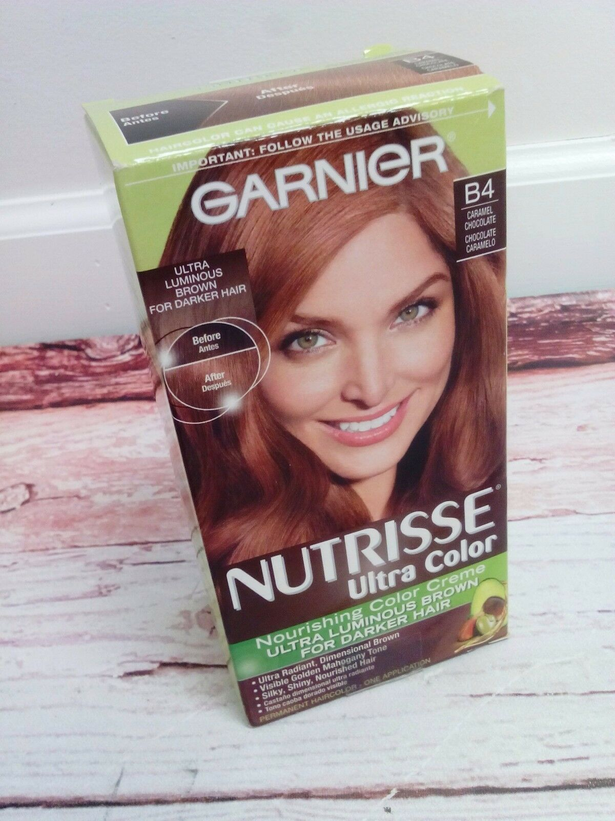 New Garnier Nutrisse Ultra Color Nourishing Creme B4 Caramel Chocolate 1 Of 3only 4 Available