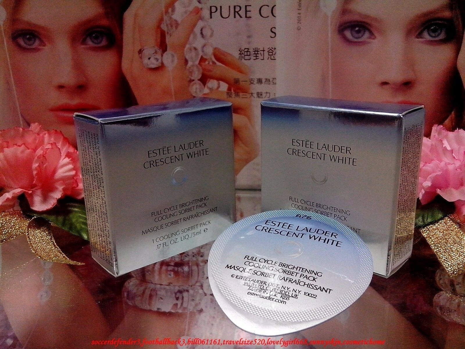 Estee Lauder Crescent White Full Cycle Brightening Uv Protector Pure Color Nail Lacquer A65 Le Smoking Mini Size 1 Of 12only 3 Available Cooling