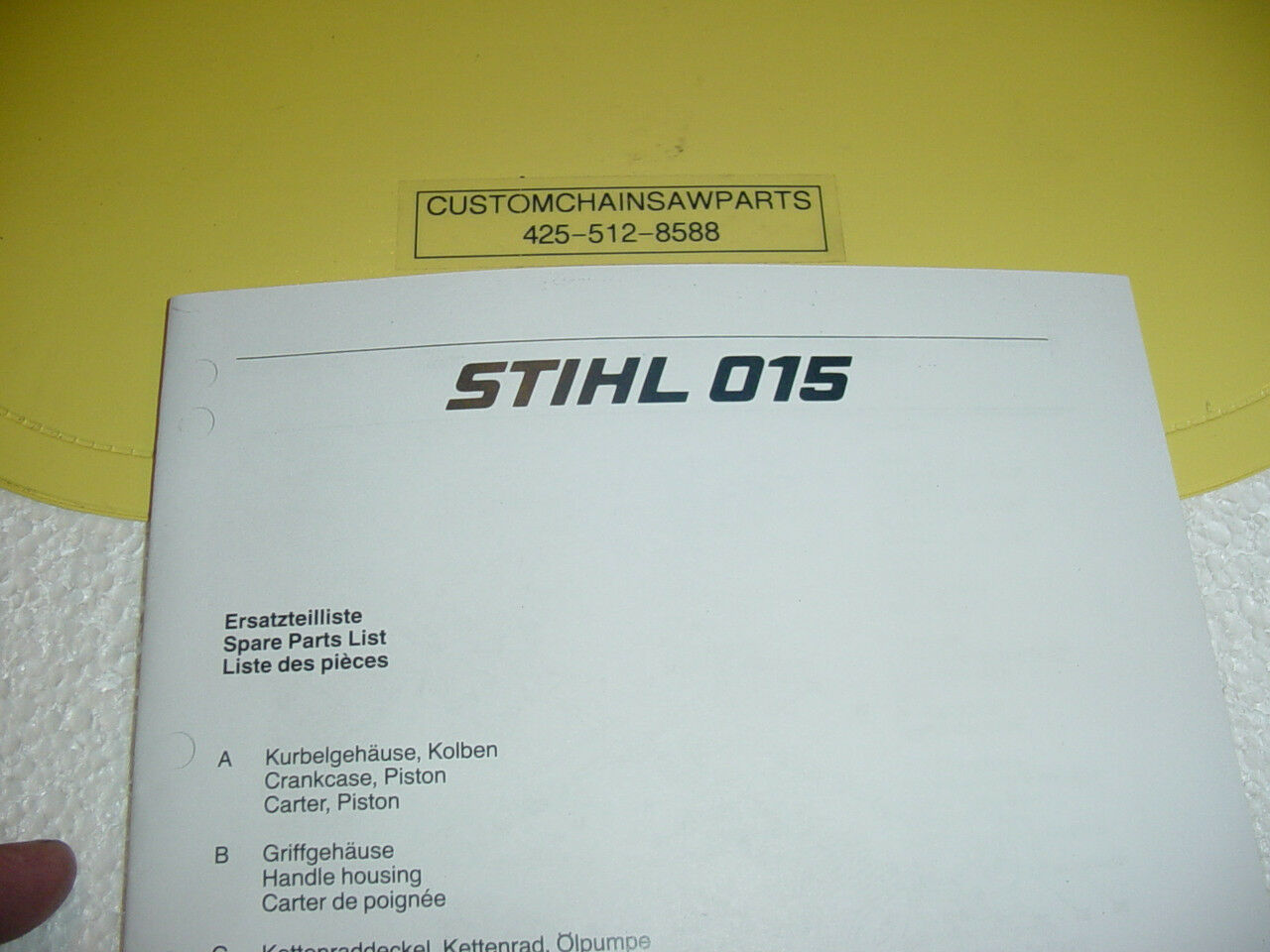 Parts List For Stihl 015 015Av 015Avp Chainsaw New ------ Manual 1 of 1 See  More