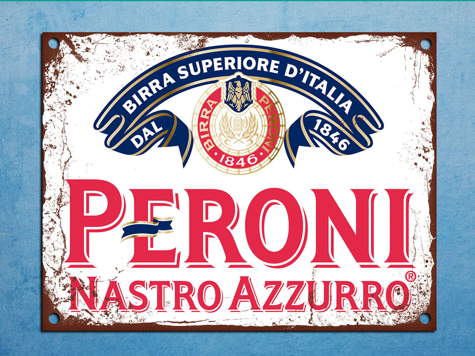 metal plaque vintage retro style peroni beer decorative tin wall door bar sign picclick uk. Black Bedroom Furniture Sets. Home Design Ideas