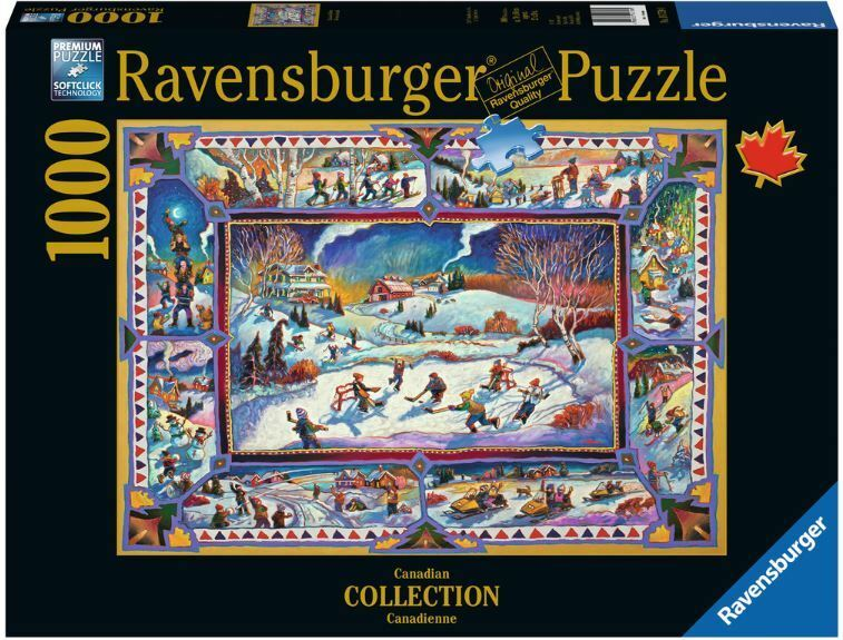 ravensburger christmas puzzle 1000 t canadian winter. Black Bedroom Furniture Sets. Home Design Ideas