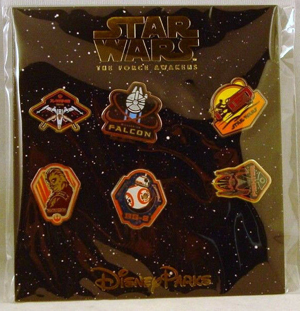 Disney Trading Pins STAR WARS The FORCE AWAKENS  Booster Set of 6