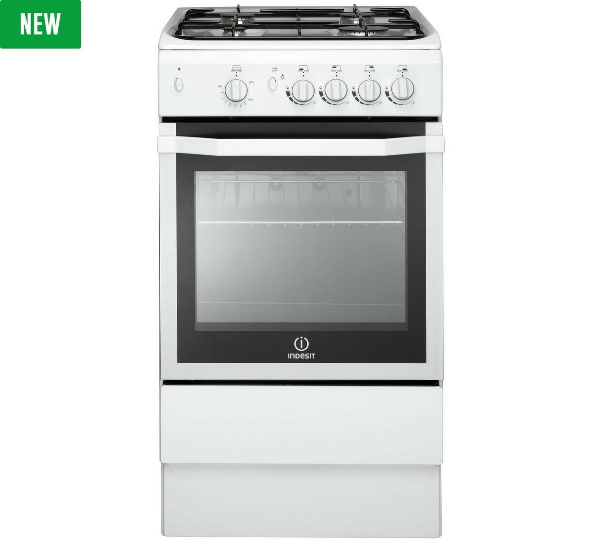indesit i5ggw free standing 50cm double gas cooker white. Black Bedroom Furniture Sets. Home Design Ideas