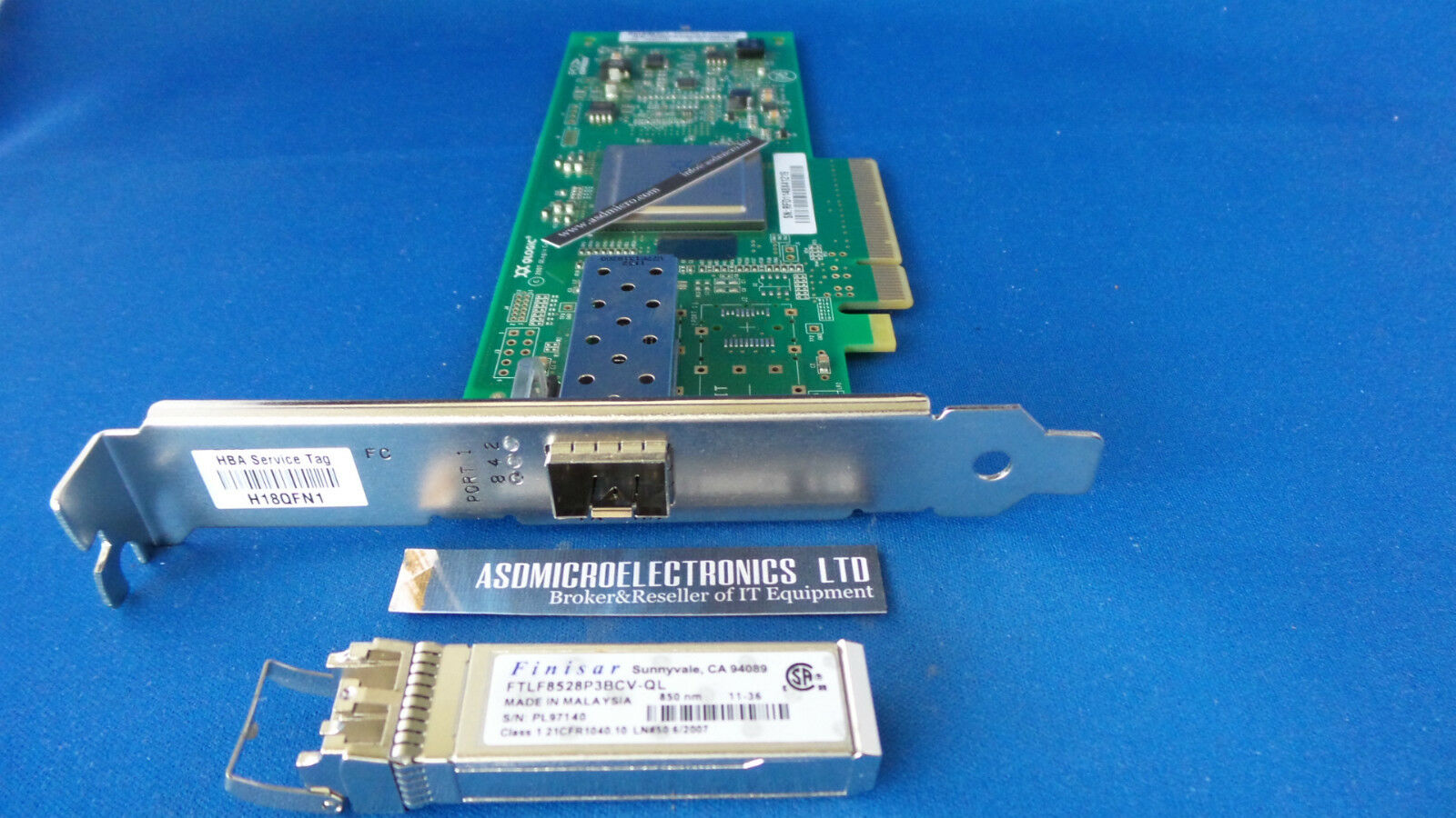 489190 001 Qlogic Qle2560 Fibre Channel Hba 8gb Pci E Sfp Long Brocade 57 1000117 01 Up To 10gb 1 Of 1only 2 Available