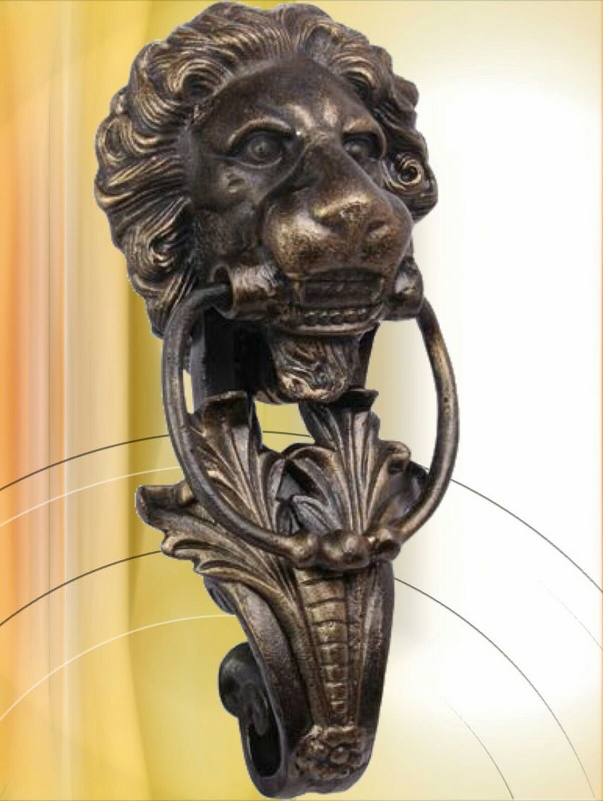 lion head l wenkopf doorknocker h 41 cm l wen t rklopfer f r richtige t ren eur 59 00. Black Bedroom Furniture Sets. Home Design Ideas