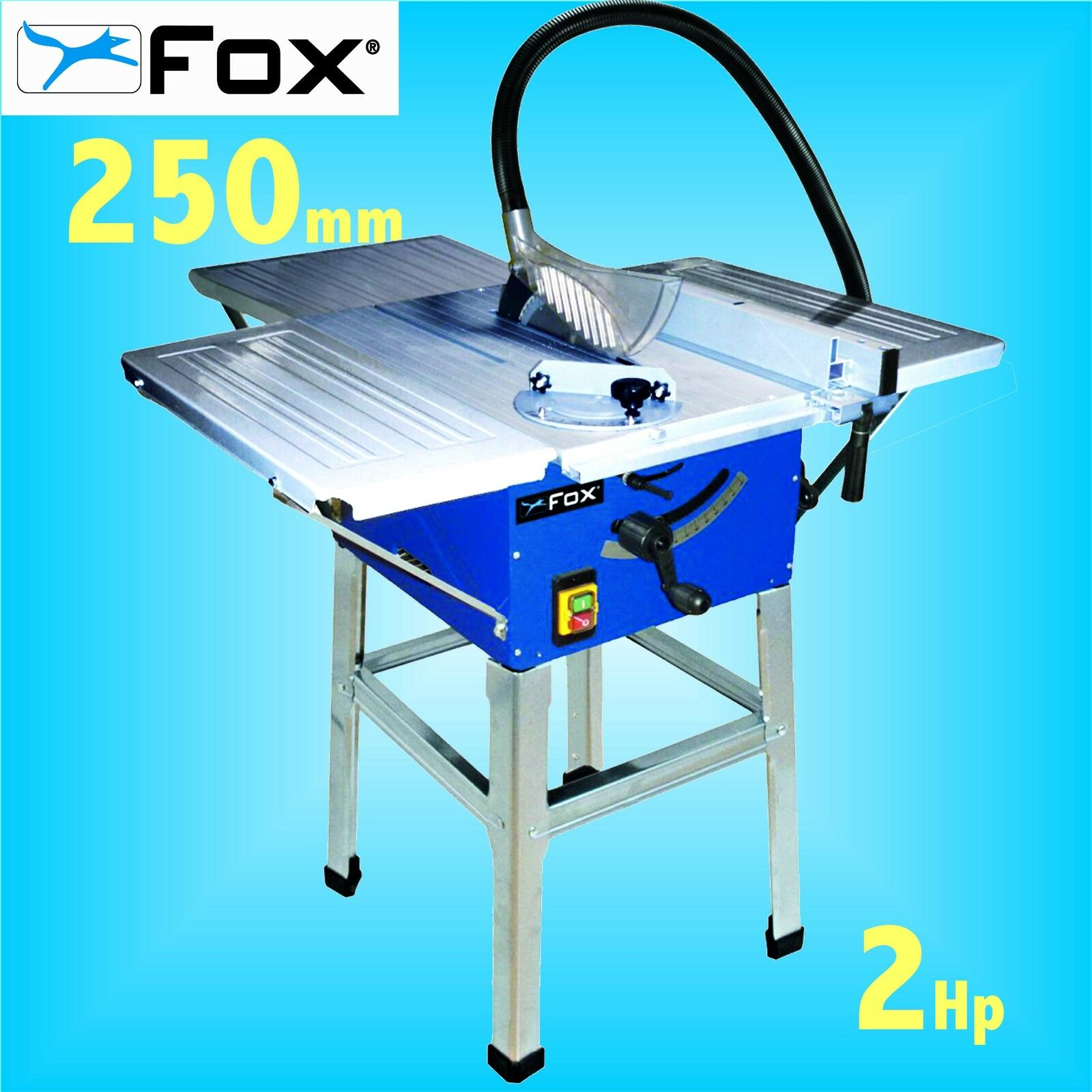 Fox F36 522e 240v 250mm 10 Table Bench Circular Saw With Stand Extension Table