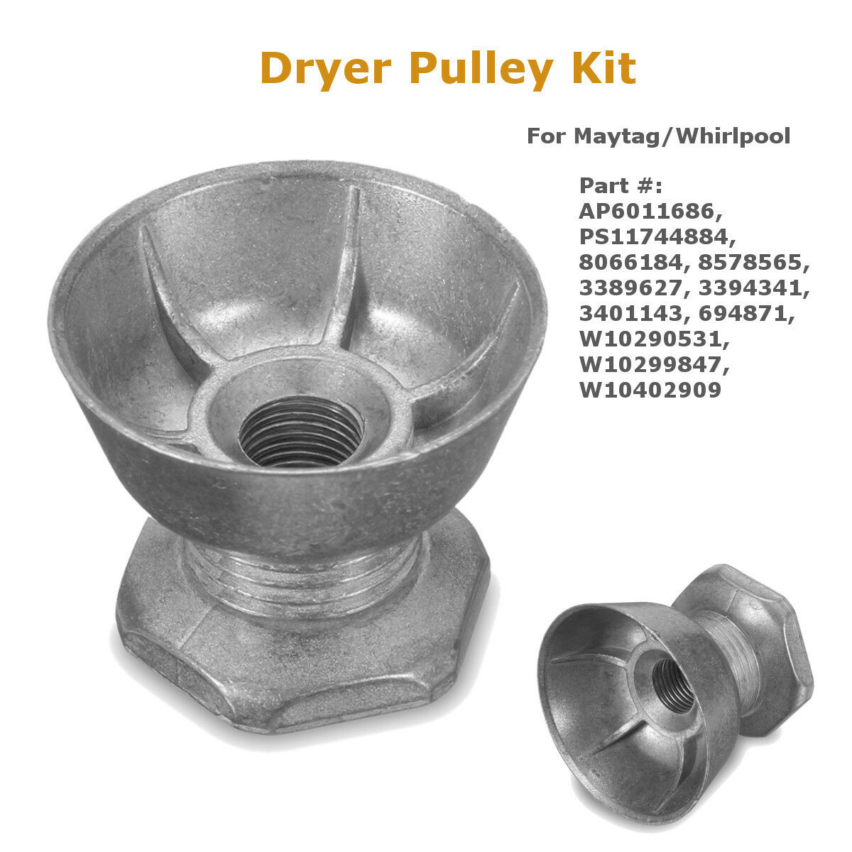 Dryer Motor Pulley For Maytag Whirlpool Ap6011686