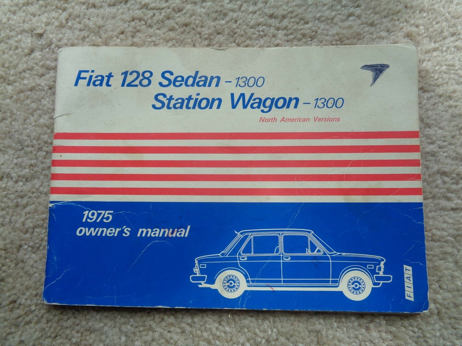 1975 Fiat 128 Sedan 1300 Station Wagon 1300 - Owners Manual - Original 1 of  4Only 1 available ...