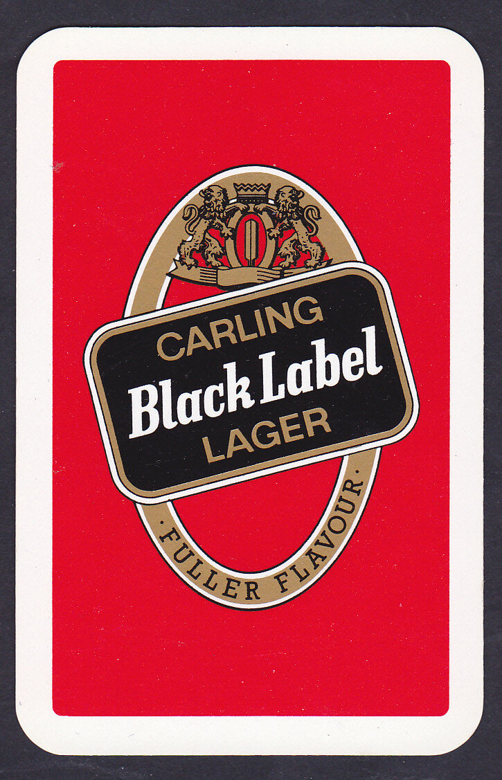 carling black label lager single playing card picclick uk. Black Bedroom Furniture Sets. Home Design Ideas