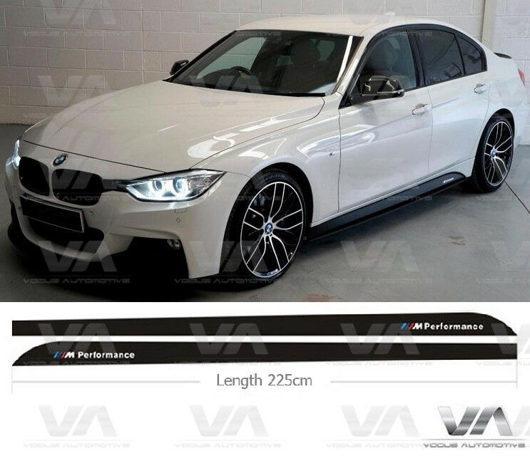 bmw 3 series f30 f31 m performance side skirt stickers. Black Bedroom Furniture Sets. Home Design Ideas