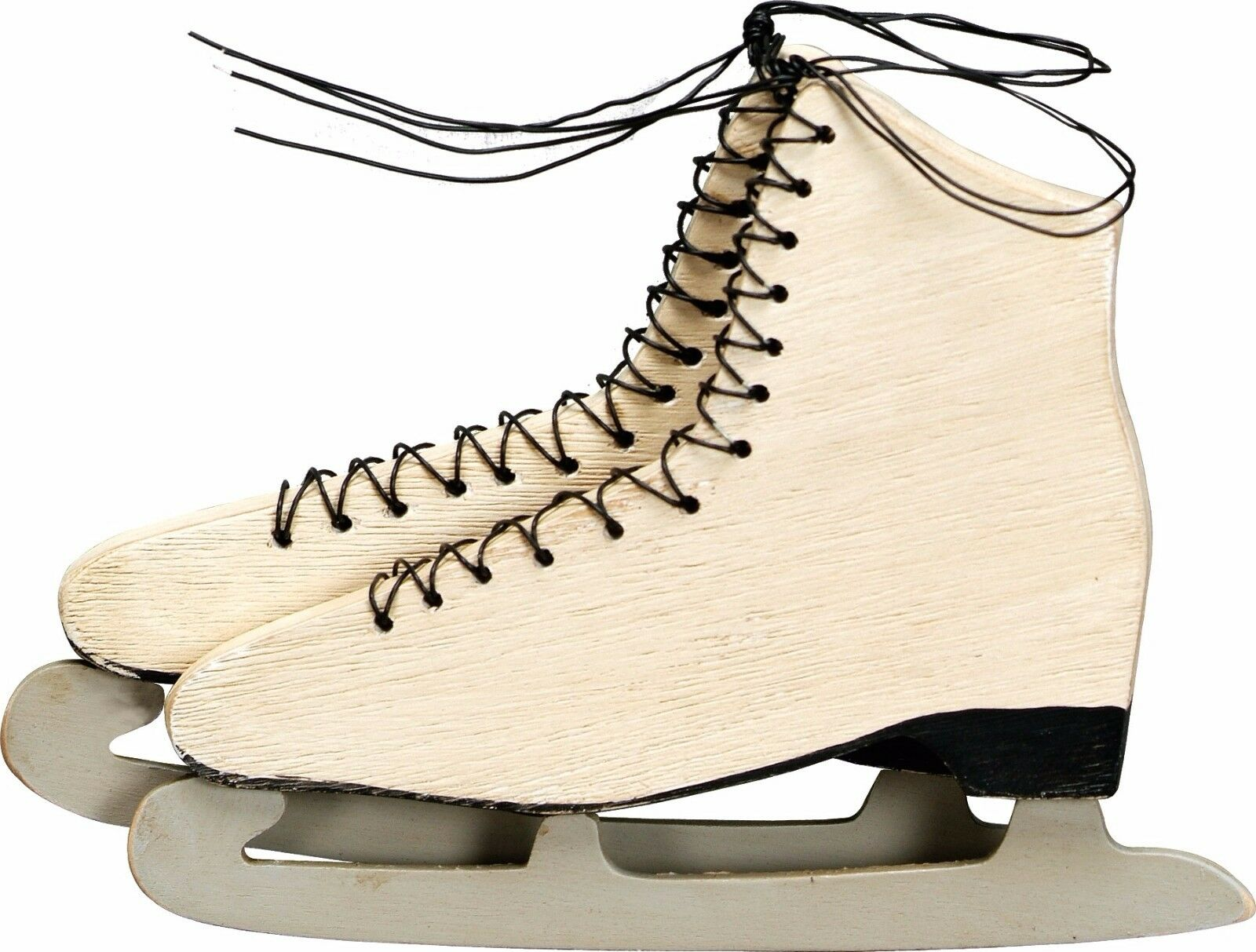 WOOD VINTAGE CHARM ICE SKATE~Christmas Ornament/Sign/Plaque ...